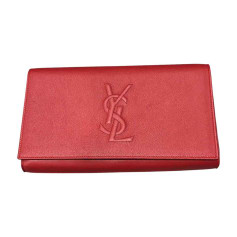 Pochette SAINT LAURENT Rouge, bordeaux
