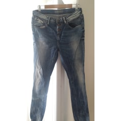 Jeans droit TEDDY SMITH Bleu brut et bleu délavé
