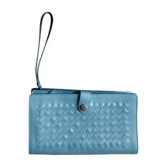 Porte document, serviette BOTTEGA VENETA Bleu, bleu marine, bleu turquoise