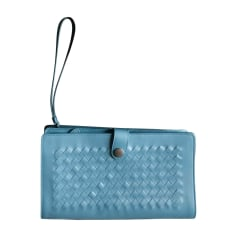 Briefcase, folder BOTTEGA VENETA Blue, navy, turquoise