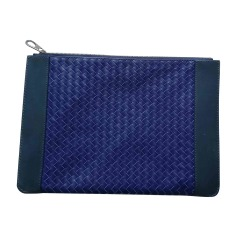 Briefcase, folder BOTTEGA VENETA Blue, navy, turquoise