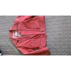 Lederblouson MANGO Pink,  altrosa