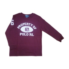 Tee-shirt RALPH LAUREN Rouge, bordeaux