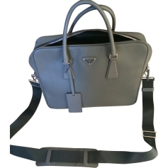 Briefcase, folder PRADA Gray, charcoal