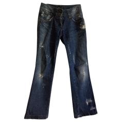 Jeans dritto DOLCE & GABBANA Blu, blu navy, turchese