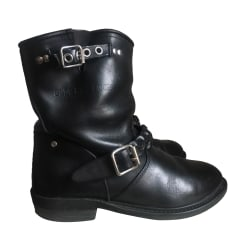 Bottines & low boots motards GOLDEN GOOSE Noir