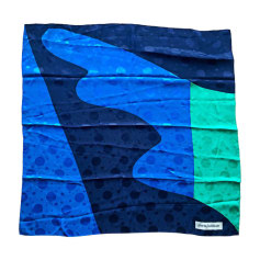 Silk Scarf PIERRE BALMAIN Blue, navy, turquoise