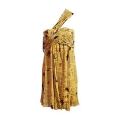 Robe dos nu JOHN GALLIANO Jaune