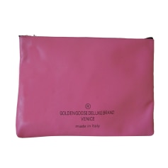Leather Clutch GOLDEN GOOSE Pink, fuchsia, light pink