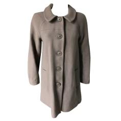 Pea Coat MAJE Gray, charcoal