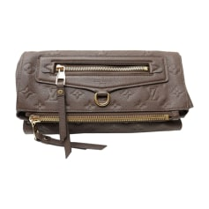 Leather Clutch LOUIS VUITTON Brown