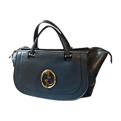 Leather Oversize Bag GUCCI Blue, navy, turquoise