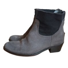 Bottines & low boots plates ZADIG & VOLTAIRE Gris, anthracite
