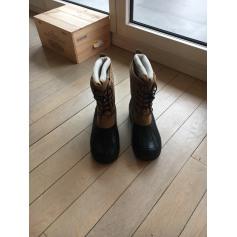 Bottines & low boots plates AIGLE Beige, camel