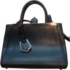 Leather Shoulder Bag FENDI 2Jours Blue, navy, turquoise