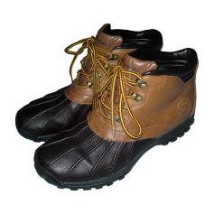 Bottines & low boots plates RALPH LAUREN Marron