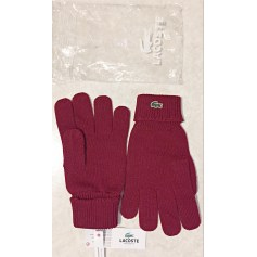 Gloves LACOSTE Red, burgundy