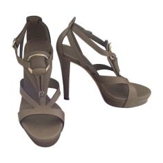 Sandali con tacchi GUCCI Grigio, antracite