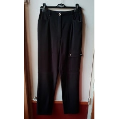 Pantalon slim, cigarette BLEU DE SYM Noir