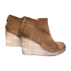 Bottines & low boots à compensés ANTHOLOGY PARIS Beige, camel