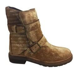 Bottines & low boots motards ZADIG & VOLTAIRE Doré, bronze, cuivre