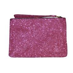 Leather Clutch TARA JARMON Pink, fuchsia, light pink
