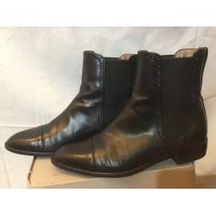 Bottines & low boots plates PERTINI Noir