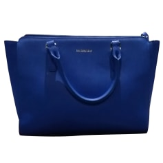 Leather Handbag MAC DOUGLAS Blue, navy, turquoise