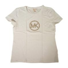 Top, t-shirt MICHAEL KORS Bianco, bianco sporco, ecru