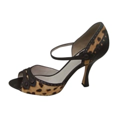Peep-Toe Pumps DIOR Brown