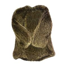 Blouson, veste en fourrure BALMAIN Vert