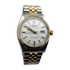 Armbanduhr ROLEX DATEJUST Weiß, elfenbeinfarben