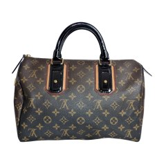 Non-Leather Handbag LOUIS VUITTON Speedy Brown