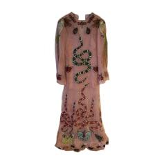 Maxi Dress GUCCI Pink, fuchsia, light pink