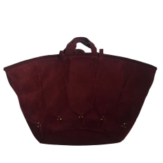 Leather Oversize Bag JEROME DREYFUSS Red, burgundy