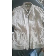 Leather Zipped Jacket LE TEMPS DES CERISES Beige, camel