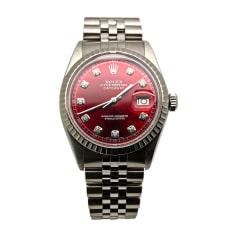 Armbanduhr ROLEX DATEJUST Rot, bordeauxrot