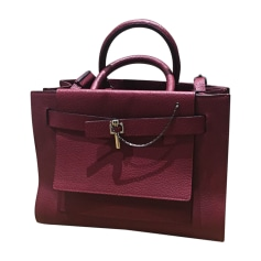 Leather Handbag CARVEN Red, burgundy