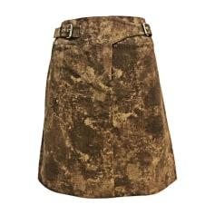 Mini Skirt CÉLINE Brown