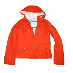 Zipped Jacket ABERCROMBIE & FITCH Red, burgundy