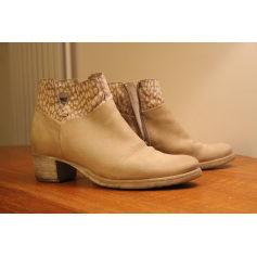 Bottines & low boots à talons MJUS Blanc, blanc cassé, écru