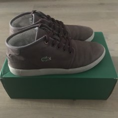 Lace Up Shoes LACOSTE Brown