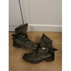 Bottines & low boots motards AIRSTEP Kaki