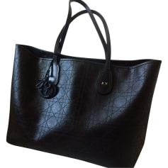 Leather Handbag DIOR Dior panarea Black