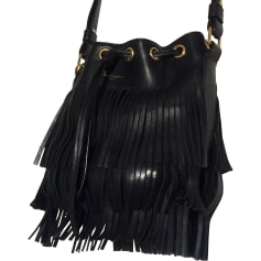 Leather Shoulder Bag SAINT LAURENT Emmanuelle Black
