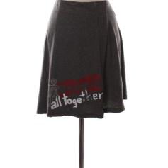 Midi Skirt DESIGUAL Gray, charcoal