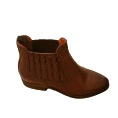 Bottines & low boots plates PASTELLE Beige, camel