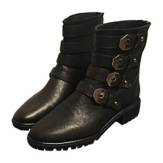 Bottines & low boots motards STUART WEITZMAN Noir