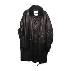 Cappotto di pelle ALEXANDER MCQUEEN Nero
