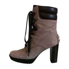 Stivali con tacchi TOD'S Beige, cammello